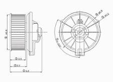 HVAC Blower Motor Front TYC 700001