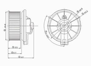 HVAC Blower Motor fits 1992-2006 Honda Civic Insight Prelude  TYC