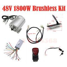 1800W 48V Brushless Motor Controller Pedal Forward Reverse Key Switch For E-Bike