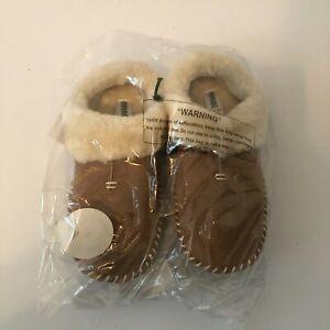 Minnetonka Carolina Clog Faux Fur Slippers Cinnamon Size: US 7 New Womens