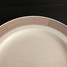 "Mikasa Tracings Round Chop Plate Intaglio CAC06 12.75"" Across Pink Mauve Rim NEW"