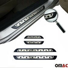 Door Sill Plate Cover  Steel On Plastic 4 Pcs For Dodge Durango