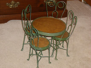 """Doll Table & Chairs FOR Chatty Cathy, Besty McCall, Cissy, American Girl  14-20"""""""