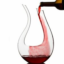 1.5L 1500ML Crystal Glass U-shaped Horn Wine Decanter Pourer Wine Container H