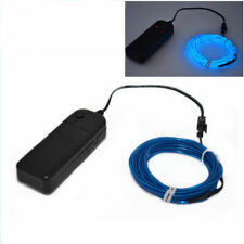 5M Luminescent Neon LED Lights Glow EL Wire Party Strip Rope Battery Operated