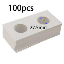 100pcs 2x2 Penny Cent Paper Cardboard Coin Holder Organizers For Coins 27.5mm