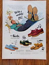 1952 U S Keds Shoes Ad Feel Like a Wonderful Guy Relaxing in the Hammock