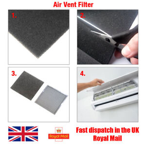Dust Filter Foam Sheet, Air Conditioner Purifier 3mm Thick, 25cm x 25cm (625cm²)