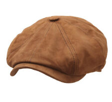 Stetson  Men's Hatteras Goat Suede  Leather Flat Cap