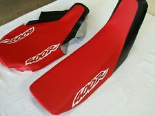 HONDA (n8) XR400R 1996 AND 1997 MODEL SEAT COVER RED & BLACK (WHITE LOGO) (H252)