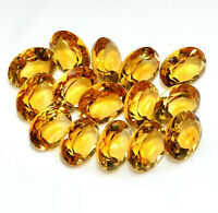 NATURAL YELLOW CITRINE 4X5 MM OVAL CUT FACETED LOOSE AAA QUALITY GEMSTONE LOT