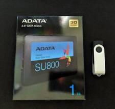 "Adata 2.5"" SATA 1TB SSD BUNDLE with Windows 10 Pro USB Boot Install + License"