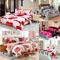 Queen/King 3D Printed Bedding Set Bedclothes Quilt Cover Pillowcase Bedroom Gift