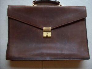 Vintage Renwick Leather Briefcase Attache Laptop Bag
