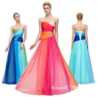 New 2016 Long Satin Ball Gown Party Prom Bridesmaid Dress Formal Evening Dress