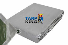 Waterproof Camping Tarpaulin - 240gsm Heavy Duty Poly D Ring Tarp 3.5m x 5.0m