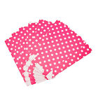 6 Popcorn TREAT BOXES Polka Dots Spots Birthday Party Favour Loot Paper Bag wh