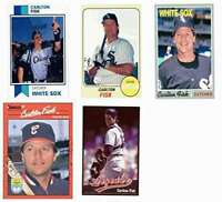 (5) Carlton Fisk Odd-Ball Trading Card Lot