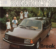Brochure Depliant Renault 18 Break TL TS 1979