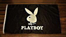 Playboy Banner Flag 3x5 Bunny Rabbit Head Tuxedo Tux Logo Ships from the USA New