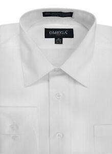 MENS Solid Long Sleeve Premium Regular fit Dress Shirt  26 Colors Part 2