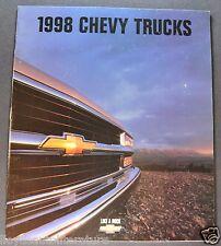 1998 Chevrolet Truck Brochure Pickup Blazer Suburban S-10 Tahoe Van Venture 98