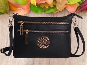 New Ladies Cross Body Messenger Bag Women Shoulder Bags Detachable Handbags UK