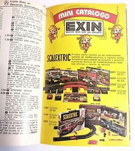 1976 MADELMAN EXIN mini CATALOG magazine SCALEXTRIC MIGHTY MIKE TENTE WEST vtg