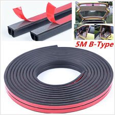 B Shape Car Truck Door Rubber Weather Seal Strip Weatherstrip Adhesive