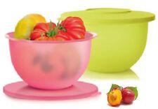 Tupperware set (2) Saladier Flash 1,3l citron rose neuf dm