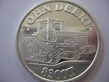 1-OZ.JOHN DEERE MODEL 8300T TRACTOR CHRISTMAS GIFT.999 PROOF  SILVER COIN+GOLD
