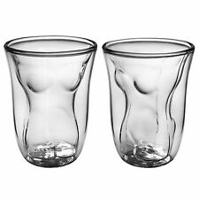 Heat Resistant Sexy Woman Borosilicate Beer Glass Gift Set 2 Female 6oz for him
