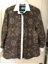 LADIES BLOUSE/SHIRT PENNY MITCHELL SIZE 14 WINTER WEIGHT PAISLEY FABRIC EX.