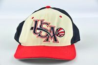 Vintage New Era Snapback Hat Cap 90s USA BASKETBALL One Size