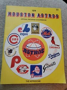 1974 HOUSTON ASTROS PROGRAM & SCOREBOOK - THE ASTRODOME