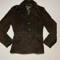 Banana Republic Brown Leather Suede Jacket Womens Medium M