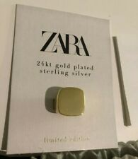 Zara 24k Gold Plated Sterling Silver Maxi Signet Ring Sold Out limited edition