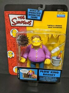 PLOW KING BARNEY Figure Series 11 - Playmate Springfield 2002 MOC   The Simpsons