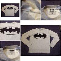 Batman Bat Man Adult Mens Womens Jumper Ladies Logo Symbol Unisex Grey Long