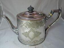 Victorian Silver Plated EPNS Teapot John Gilbert & Sons 750g 17.5cm A595817