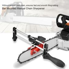 Metal Bar Mount Manual Chain Sharpener Chainsaw Saw Chain Filing Guide Tool Set