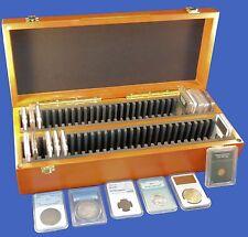Wood Storage Case Box 60 Sixty Certified Coin Slab PCGS NGC ANACS Premier Elite