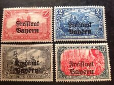 Bavaria 1919 4 X Top Value Stamps Mint Hinged