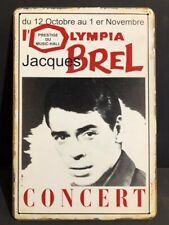 JACQUES BREL CONCERT Advert OLYMPIA  Vintage Retro Metal Sign Poster 30x20cm