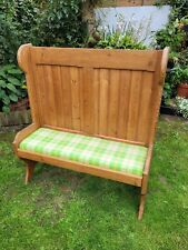 More details for  pine settle / pew..nice solid and sturdy .ideal for cosy nook or fireside niche