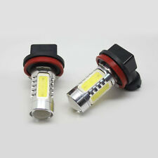 2Pcs Car Ice Blue 8000K Lens H11 High Power COB LED Lamp Bulb Driving Fog Lamp