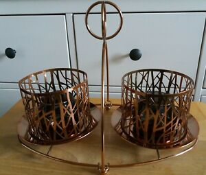 Partylite Copper Coloured Candle Holder