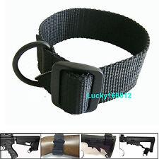 Black Universal Rifle Gun Shotgun Stock Single Point Sling Loop Adapter Strap