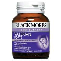 BLACKMORES VALERIAN FORTE 60 TABLETS FOR INSOMNIA SLEEP SUPPORT WAKE REFRESHED