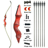 30-60lbs Archery Takedown Recurve Bow America Riser Bamboo Core Limbs Hunting